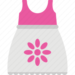 flat icon design of a little girl frock icon