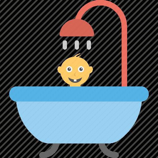 baby bath, baby bathing, baby shower, baby tub, bath time icon