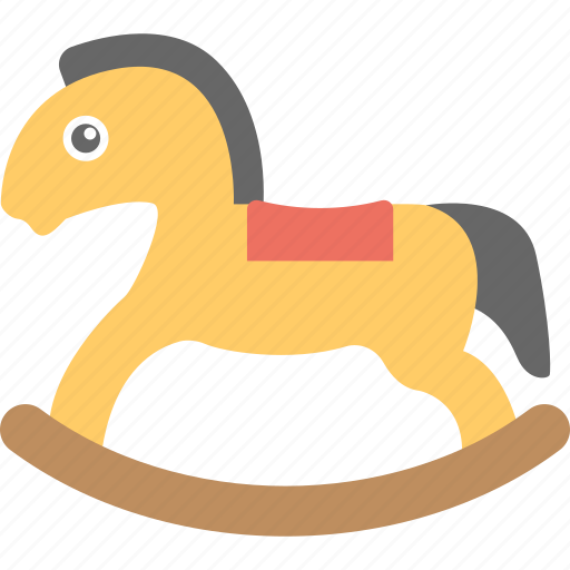 fun toy, horse toy, kids toy, rocking horse, wooden horse icon
