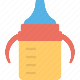 baby bottle, baby cup, child cup, kids cup, sippy cup icon