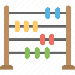 abacus, colorful beads, counting toy, educational toy, learning toy icon