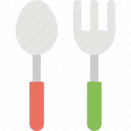 cutlery, dinnerware, feeding tools, fork, kitchen ware, spoon icon