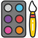 art, artist plate, colors, paint palette, painting icon