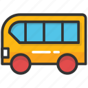 bus, bus toy, childhood, children, kid toy icon