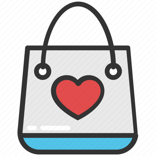 heart on tote, lover gift, shopping bag, store bag, tote bag icon