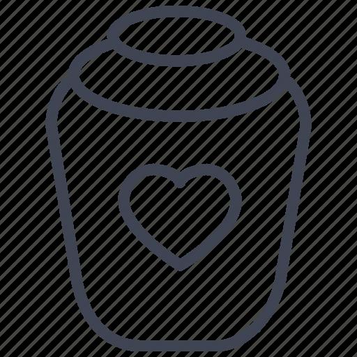 baby, child, heart, honey, jar, love, maternity icon