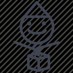 baby, box, child, gift, jack, present, toy icon