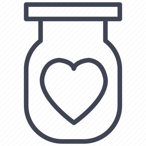 baby, heart, jar, love, romantic, valentine, valentines icon