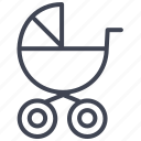 baby, carriage, infant, kid, stroller icon