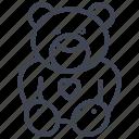 bear, teddy, baby, child, infant, toy