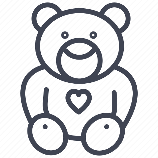 baby, bear, child, infant, teddy, toy icon