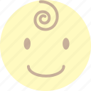 baby, boy, calm, feel loved, smile icon