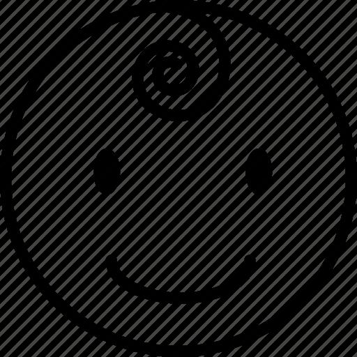baby, boy, normal face, smile icon