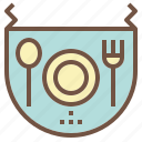 apron, baby, clean, eat, meal icon