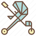 baby, cart, stroller, trolley icon