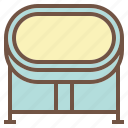 baby, bassinet, cradle, newborn, sleep icon