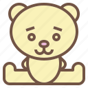 animal, bear, doll, stuffed icon