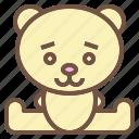 animal, bear, doll, stuffed