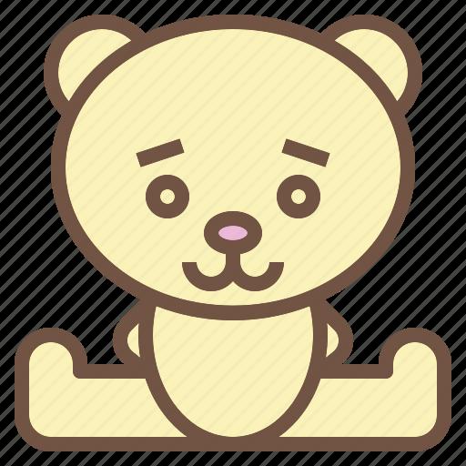 animal, bear, doll, stuffed icon