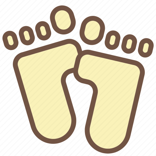baby, feet, footprint, id, stamp icon