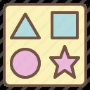 baby, brain, geometry, puzzle icon