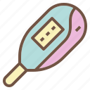 baby, cold, digital, fever, kid, thermometer icon