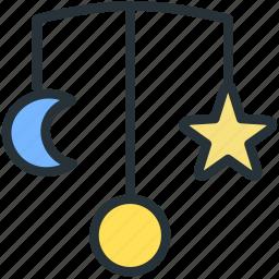 baby, moon, stars, toys icon