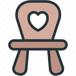 baby, chair, toy icon