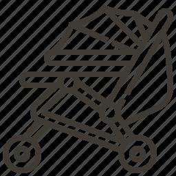 baby, cart, child, childhood, kid, newborn, stroller icon