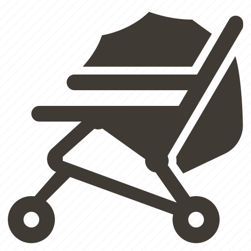 baby, cart, child, childhood, newborn, solid, stroller icon