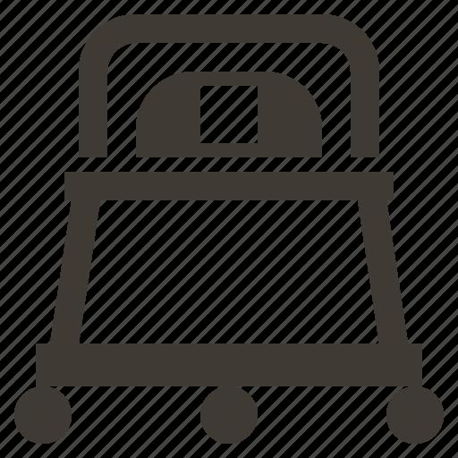 baby, cart, child, childhood, newborn, solid, stroller icon