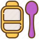 baby, child, childhood, dish, kid, newborn, spoon icon