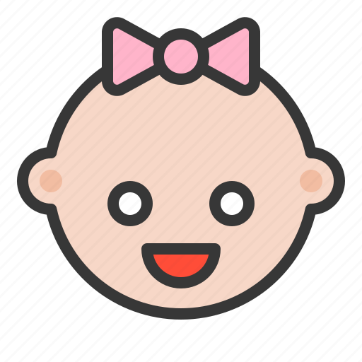 Infant, babe, baby girl, child, baby, girl, childhood icon