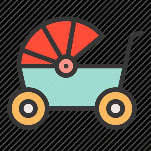 babe, baby, baby wagon, child, childhood, infant icon