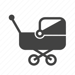 baby, family, happy, mother, pram, sleep, stroller icon