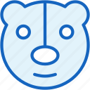 baby, bear, toy icon