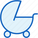 baby, carriage icon