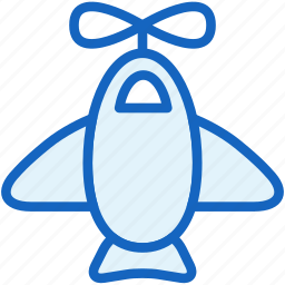 airplane, baby, toy icon