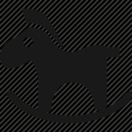 baby, horse, rocking horse, toy icon