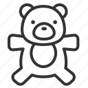 baby, child, kid, teddy bear, toy icon