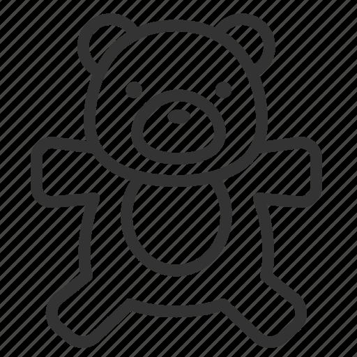 baby, child, kid, teddy bear, toy icon