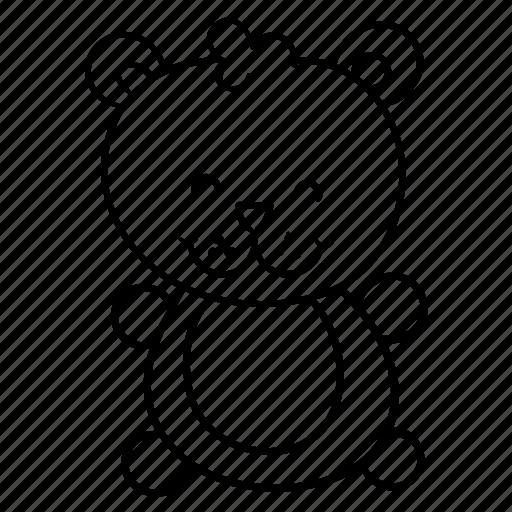baby, bear, happy, teddy, toy icon