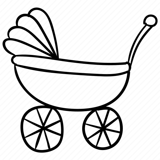 baby, cart, pusher, walker icon