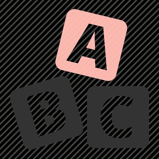 abc, puzzle icon