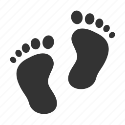 footprint, kids icon