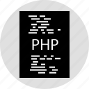 code, document, php, programming icon