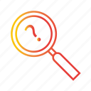 explore, find, magnifier, magnifying glass, optimization, search, zoom icon