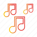 extracurricular, multimedia, music, note, sing, song, sound icon