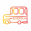 autobus, bus, school bus, transport, transportation, vechicle icon