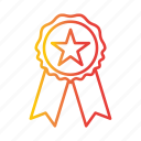 achievement, award, badge, champion, medal, star, winner icon